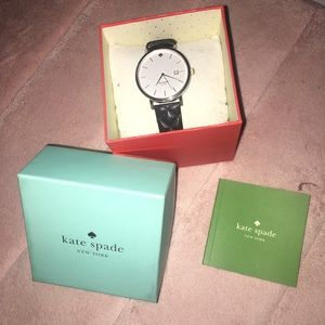 Kate Spade Black Quilted Leather Watch